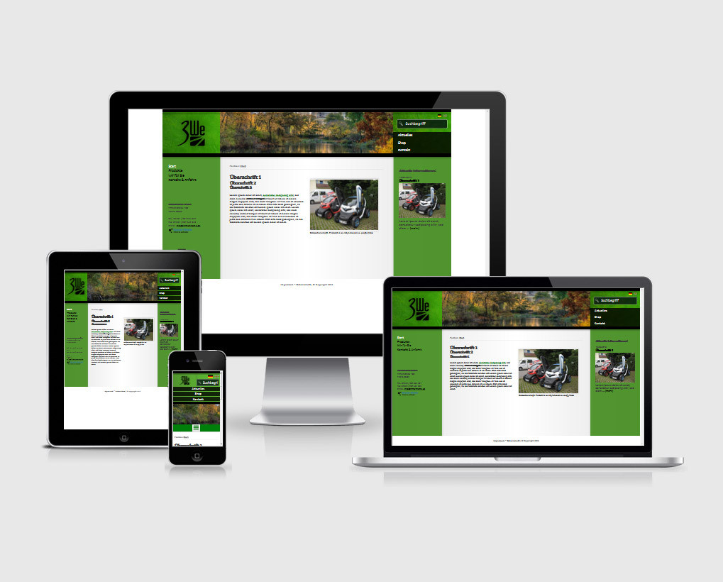 wisy CMS Template 07, Farbset 4
